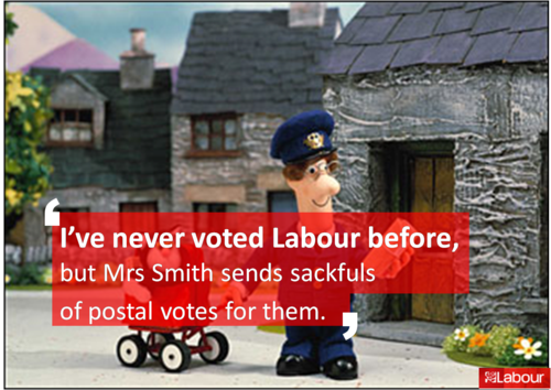 I've never voted Labour...........postman pat