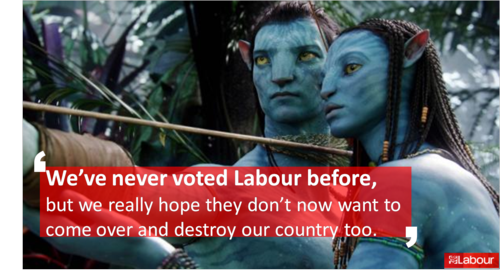 I've never voted labour before........Avatar