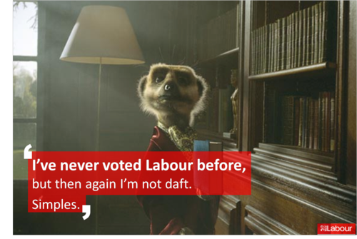 've never voted Labour before........ compare the meerkat